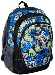 Молодежный рюкзак с ярким принтом PASO 21L 15-367D черныйсерый