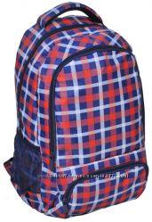 Удобный молодежный рюкзак PASO 21L 15-8122A красный в клетку