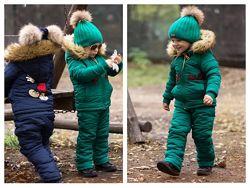Комбинезон детский зимний мех синтепон флис