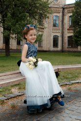Прокат - шикарное  выпускное платье, туфельки, авторский ободок