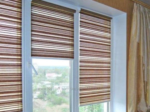 Рулонные шторы Маракеш открытого типа, разные цвета