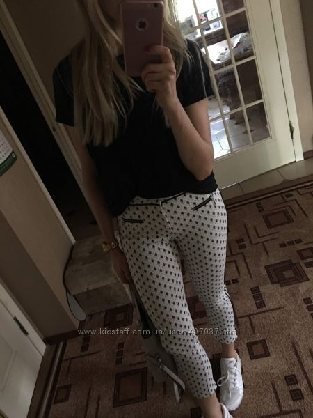 Штаны брюки укороченные stradivarius 34