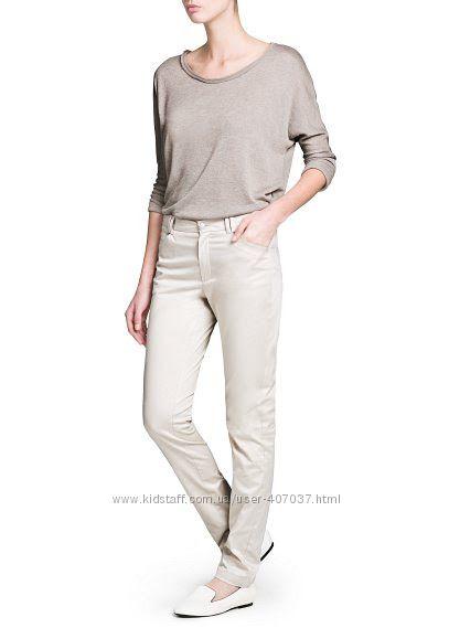 Красивые летние базовые брюки Mango 34