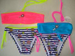 Распродажа. детские купальники бандо 3 цвета