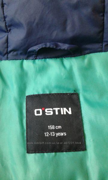 Куртка деми для подростка темно синяя
