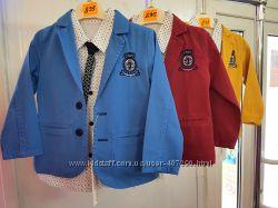 Костюмы на мальчиков. Пиджак, рубашка, галстук, штаны. Р-ры 1, 2, 3г.
