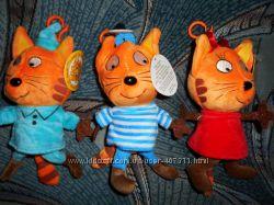Мягкая игрушка брелок Три кота компот карамелька коржик 18см