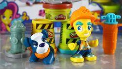 набор Hasbro Play-Doh Town B5973 B5972 плей до дорожный рабочий