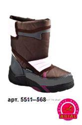 Сапоги дутики Arial ариал 5511-568 осень-зима 29р. 18, 5см коричнево розовые