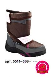 Сапоги дутики Arial ариал 5511-568 осень-зима 29р. 18, 5см коричнево розовы
