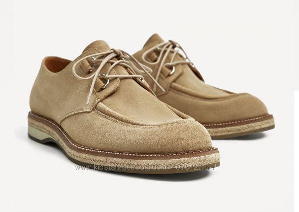 Мужские туфли ZARA из натуральной кожи. Две модели. Размер 40
