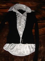 Школьная блузка-обманка на девочку р. 152-158 см