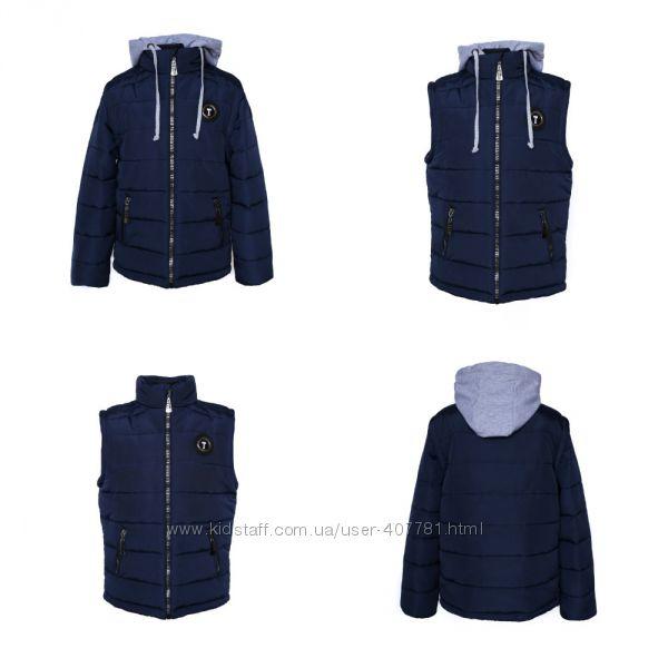 Демисезонная куртка-трансформер 2 в 1 для мальчика Стайер, р. 140-158