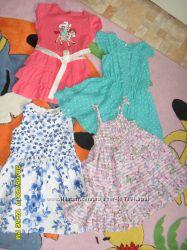 Наши платья NEXT 4-6 лет