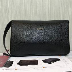 Клатч мужской кожаный Butun 065-004 001 черный