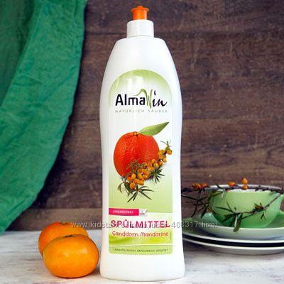 AlmaWin Органическая жидкость для мытья посуды с мандарином и облепихой