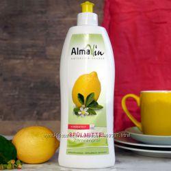 Абсолютно натуральное средство для посуды Almawin лимон Германия
