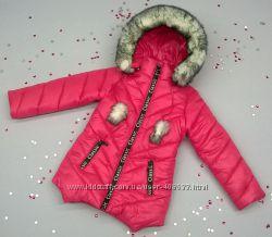 Зимнее пальтишко на девочку, разные цвета. 92, 98, 104, 110, 116р.