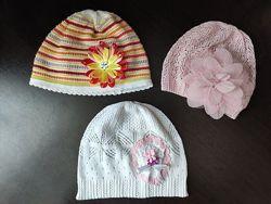 Лёгкие весенне летние шапочки для девочки