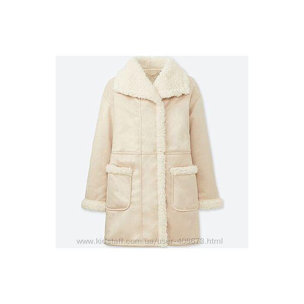 Демисезонное пальто для девочки Uniqlo