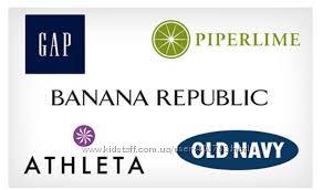Old Navy, GAP, Athlet, Banana Republic все скидки, без предоплаты