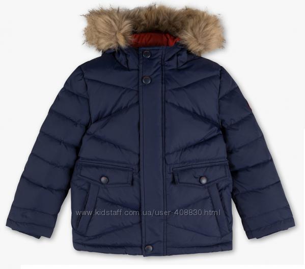 Куртка пуховик на теплую зиму C&A р. 122 128 натуральный пух