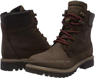 Кожаные зимние ботинки S. OLIVER р. 35
