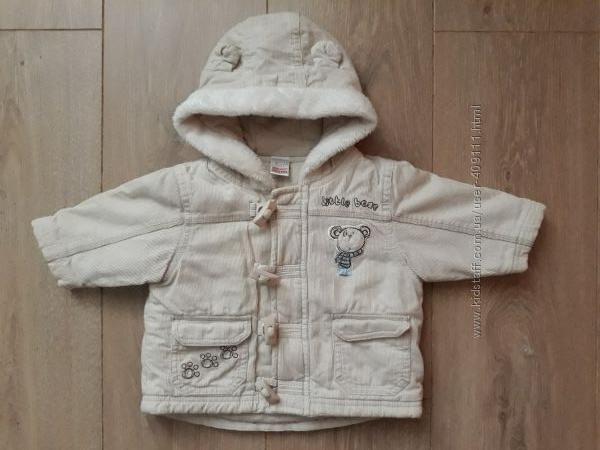 Вельветовая демисезонная курточка Next рост 56-62см 0 - 3 месяца