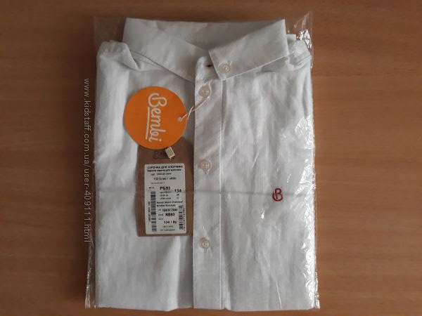 Нарядная белая рубашка ТМ Bembi РБ93 рост 134см
