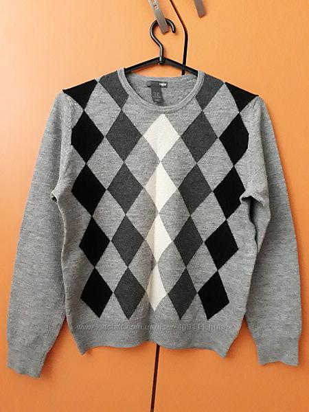Кофта, свитер, джемпер Н&M с ромбами размер М