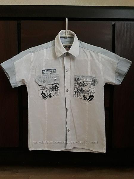 Тенниска, рубашка рост 122-128см, 7-8 лет. В ИДЕАЛЕ