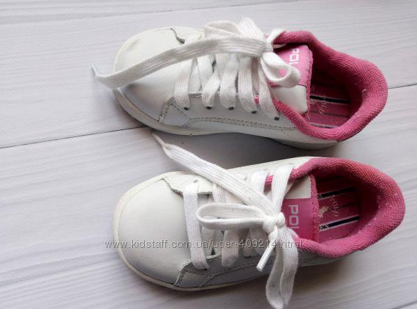 Брендовые кожанные кроссовки Ralph Lauren для девочки 23-24 размер