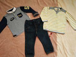 В идеале kiabi джинсы и две кофты 92 рост