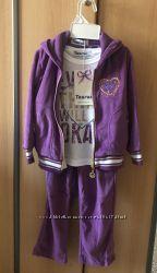 Велюровый спортивный костюм для девочки 98, 104, 110, 116, 122, 128 см