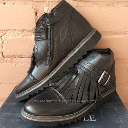 Осенние кожаные ботинки HIP р 39 недорого