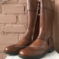 Женские кожаные сапожки Geox р 37, недорого