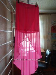 Шифононая юбка со шлейфом