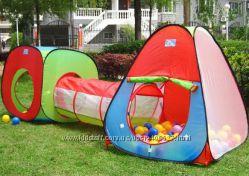 Палатка детская с переходом, конус, квадрат. Много видов.