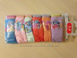 Набор 6 штук трусики детские для девочек Пони, Китти