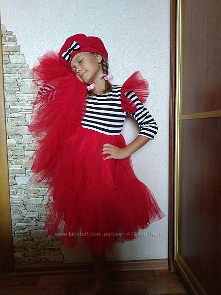 Платье с фатином праздничное морячка Евгения