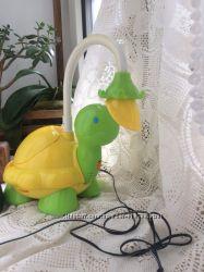 Музыкальный ночник лампа Chicco Черепаха