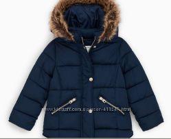 Куртка пальто темно синее новое Zara