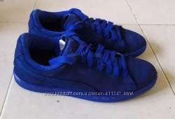 Кеды кроссовки Puma оригинал натуральная кожа 37-38 р синие индиго