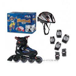 Детские ролики раздвижные наборы 3в1 FILA J-one combo