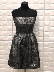 Нова Сукня вечірня Платье вечернее бандо Cache Cache черное с серебром 38р.