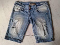 Джинсовые шорты рванки XS-S 26-27