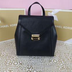 Кожаный рюкзак Michael Kors whitney md black оригинал Майкл Корс