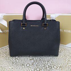 Кожаная сумка Michael Kors savannah large black оригинал Майкл Корс