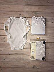 Белые бодики George 9-12 месяцев