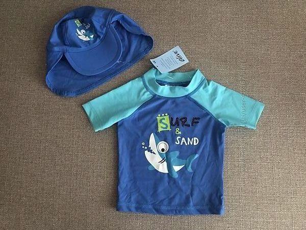Детский костюм с UV защитой футболка и панамка